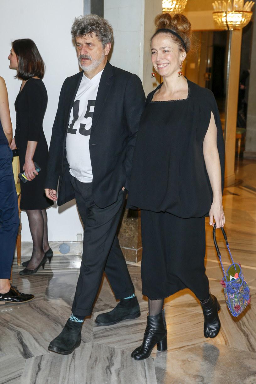 Janusz Palikot z żoną /Baranowski /AKPA