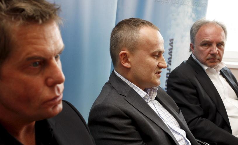 Janusz Paterman (z prawej) /Grzegorz Celejewski /