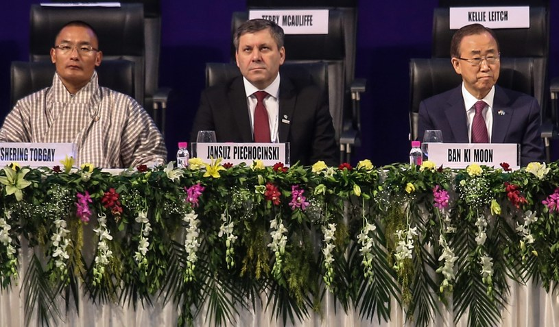 Janusz Piechociński był w Indiach na rozpoczętym w niedzielę szczycie Vibrant Gujarat. /PAP/EPA