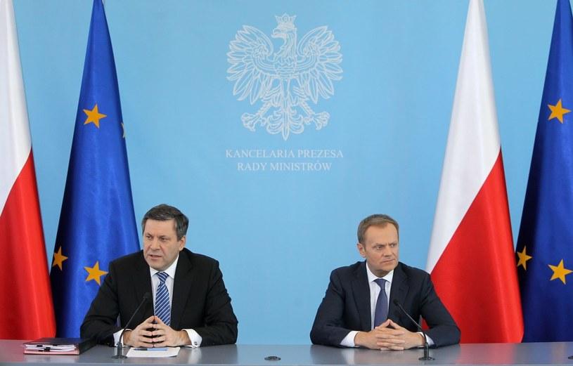 Janusz Piechociński i Donald Tusk /R. Pietruszka /PAP