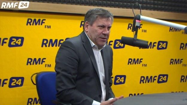 Janusz Piechociński podczas rozmowy z Konradem Piaseckim /RMF