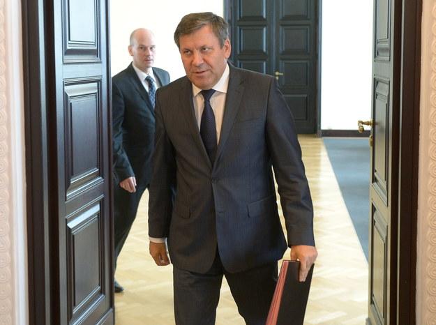 Janusz Piechociński przed posiedzeniem Rady Ministrów /Radek Piertuszka /PAP
