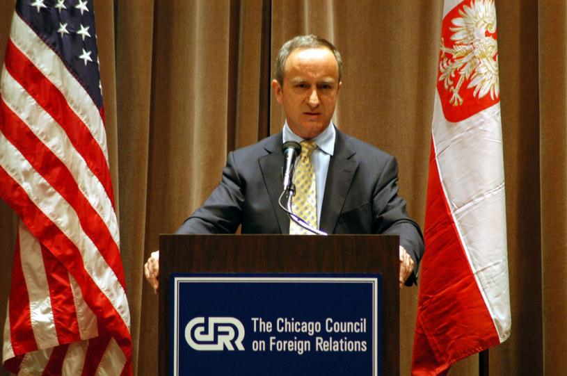 Janusz Reiter wizytujący Chicago w 2006 roku jako ówczesny ambasador RP /Piotr Batorowicz /Reporter