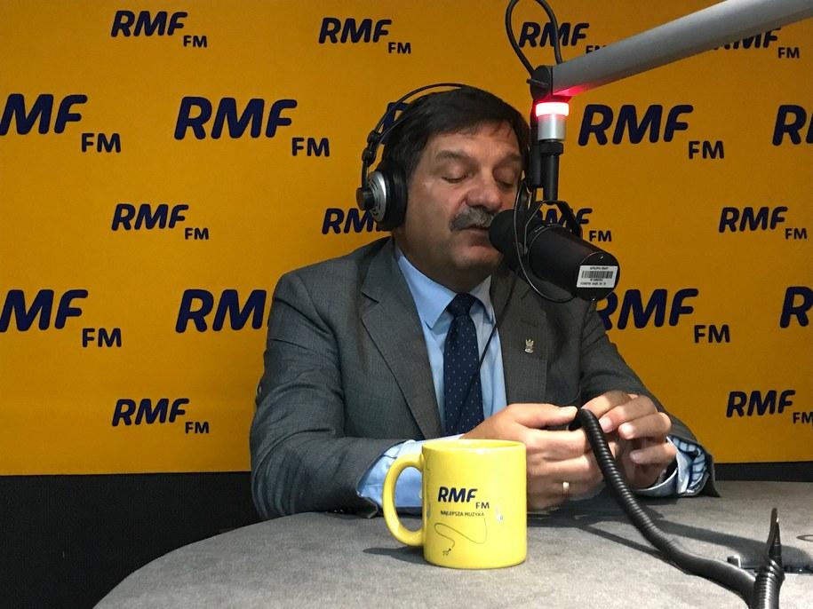 Janusz Śniadek w trójmiejskim studio RMF FM /Kuba Kaługa /RMF FM