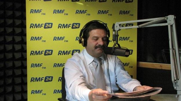 Janusz Śniadek w trójmiejskim studiu RMF FM.  /Fot. Wojciech Jankowski /RMF FM
