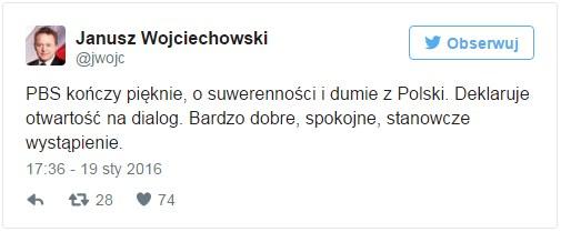 Janusz Wojciechowski na Twitterze /Twitter