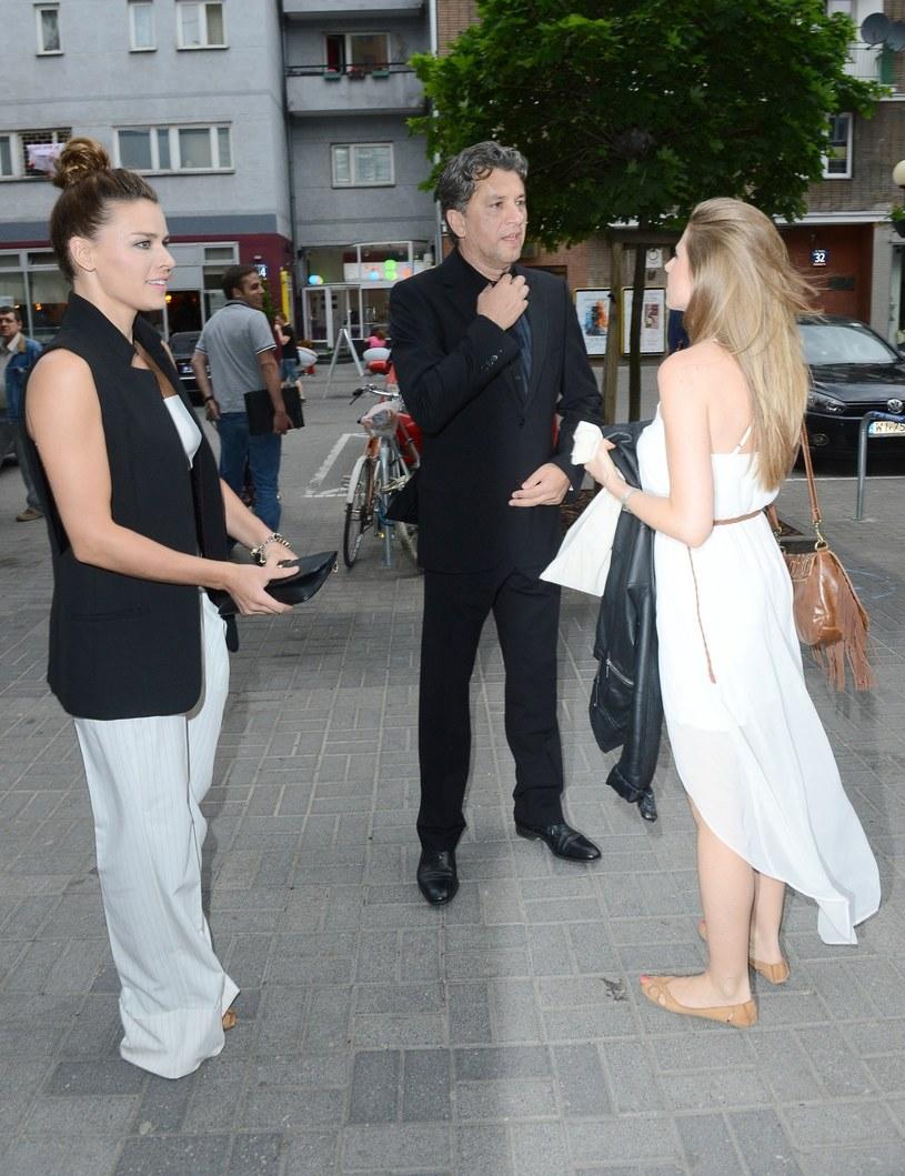 Janusz z córką i Nataszą /Tricolors /East News