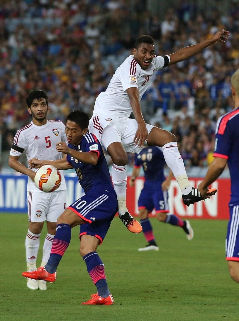 Japończycy musieli uznać wyższość piłkarzy Zjednoczonych Emiratów Arabskich /AFP
