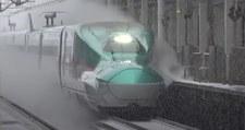 Japońska kolej kontra śnieg na torach