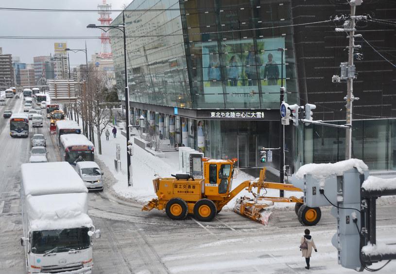 Japońska służba meteorologiczna ogłosiła ostrzeżenie przed burzami śnieżnymi /AFP