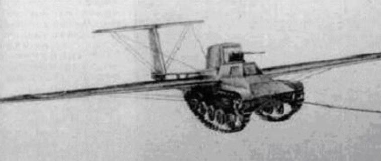 Japoński czołg latający Maeda Ku-6 /Archiwum autora /INTERIA.PL