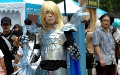 Japoński student nad zlocie miłośników cosplay /AFP