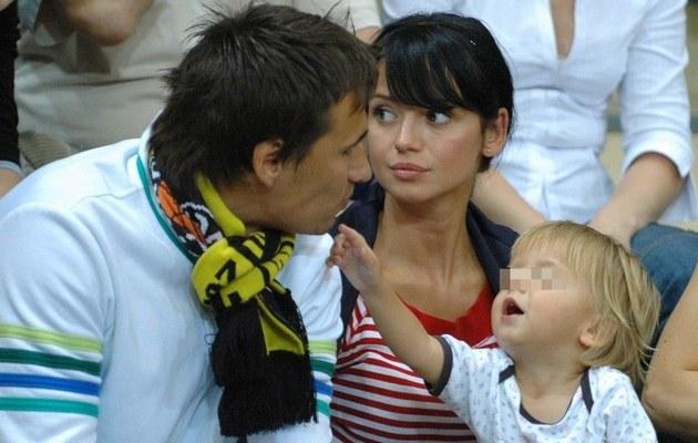 Jarek z synkiem i Anią (2007 rok) /Łukasz Ostalski /East News