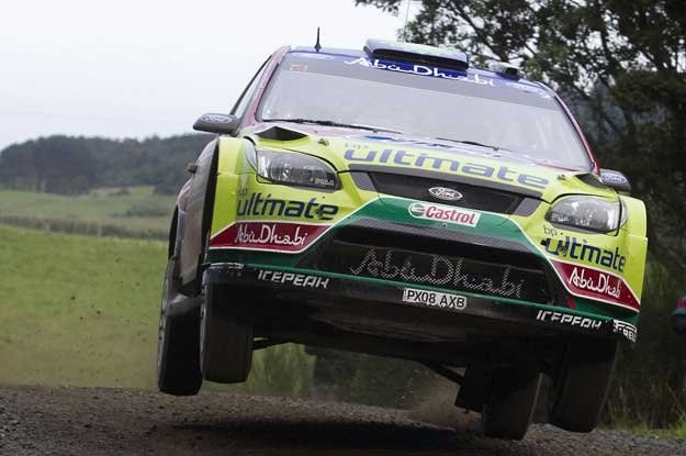 Jari-Matti Latvala (Ford Focus) na trasie rajdu Nowej Zelandii /AFP