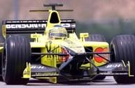 Jarno Trullli w swoim bolidzie Jordan Honda