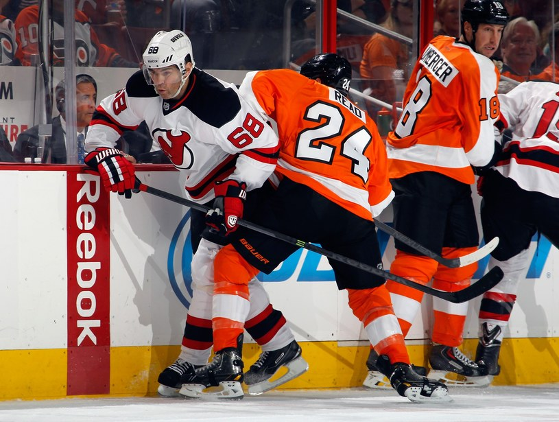 Jaromir Jagr w meczu z Philadelphia Flyers zaliczył dwie asysty /AFP