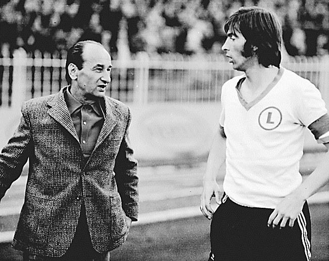 Jaroslav Vejvoda (trener Legii) i Kazimierz Deyna /Mieczysław Świderski /Newspix