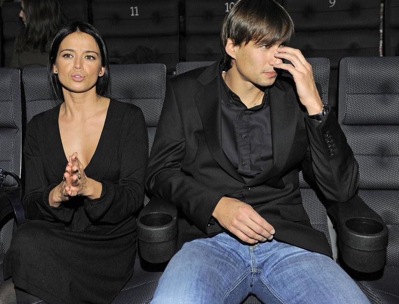 Jarosław Bieniuk i Anna Przybylska, 2008 rok /DIGITAL/EAST NEWS /East News