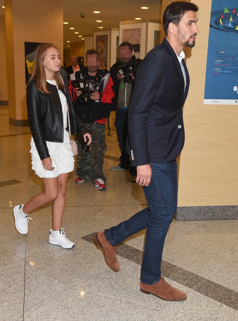 Jarosław Bieniuk z córką Oliwią /East News