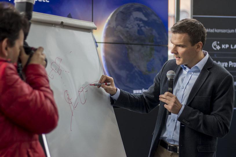 Jarosław Czaja podczas konferencji / Foto: Konsorcjum FPSPACE /materiały prasowe