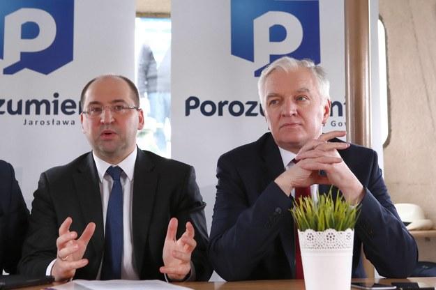 Jarosław Gowin i Adam Bielan /Piotr Augustyniak /PAP