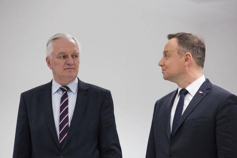 Jarosław Gowin i Andrzej Duda /Andrzej Hulimka  /Reporter