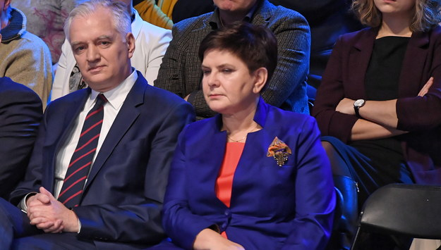 Jarosław Gowin i Beata Szydło /Radek Pietruszka /PAP