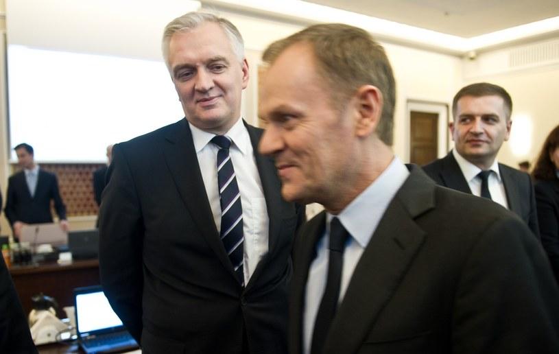 Jarosław Gowin i Donald Tusk w 2013 r. /Bartosz Krupa /East News