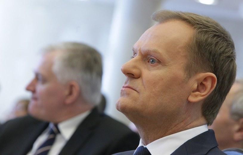Jarosław Gowin i Donald Tusk /Stanisław Kowalczuk /East News