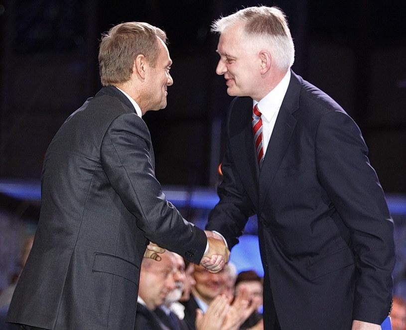 Jarosław Gowin i Donald Tusk /AFP