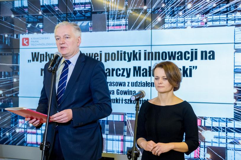 Jarosław Gowin i Jadwiga Emilewicz /Fot. Anna Kaczmarz/Dziennik Polski/ Polska Press /East News