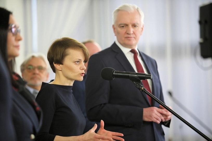 Jarosław Gowin i Jadwiga Emilewicz /Wojciech Olkuśnik /PAP