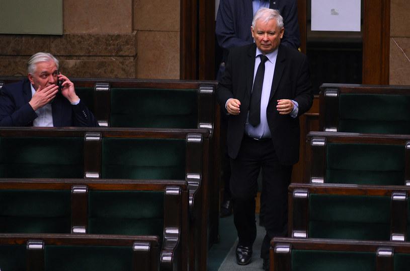 Jarosław Gowin i Jarosław Kaczyński w Sejmie /Adam Chełstowski /Agencja FORUM