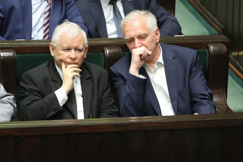 Jarosław Gowin i Jarosław Kaczyński /Fot Tomasz Jastrzebowski /Reporter