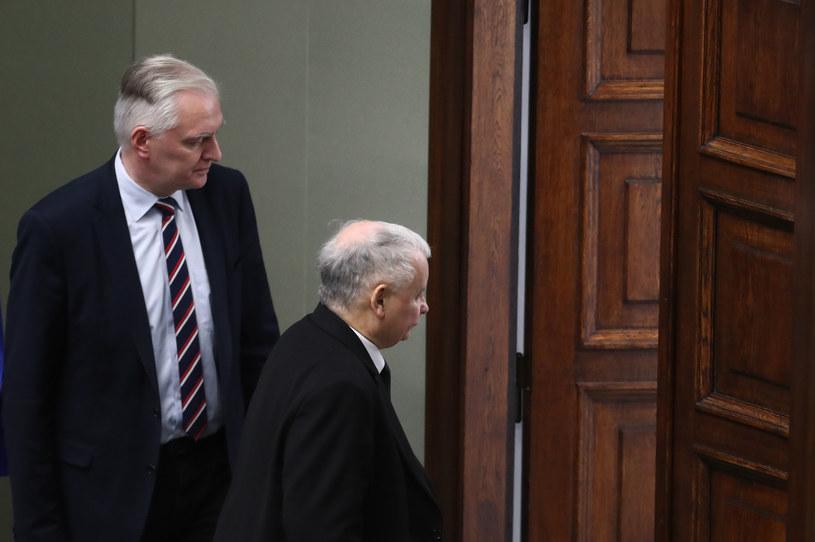 Jarosław Gowin i Jarosław Kaczyński /fot. Andrzej Iwanczuk /Reporter
