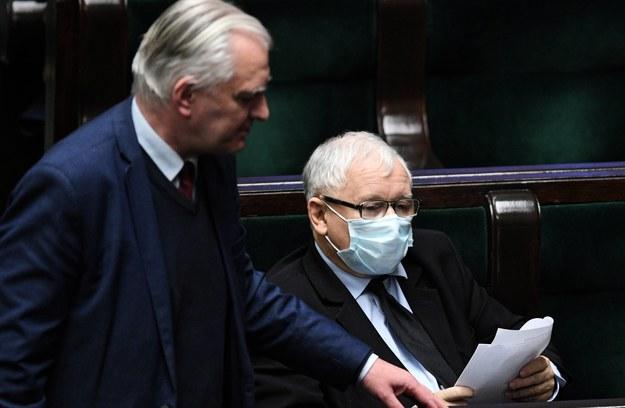 Jarosław Gowin i Jarosław Kaczyński / Radek Pietruszka   /PAP/EPA