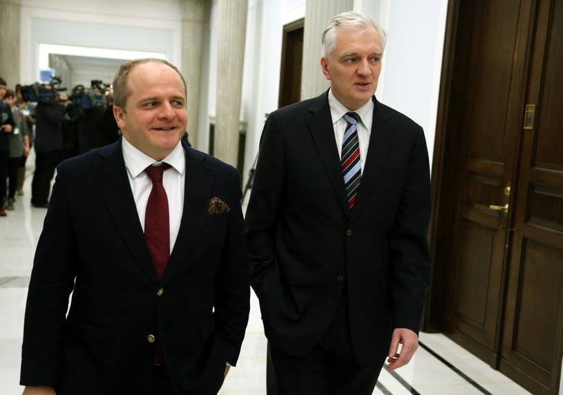 Jarosław Gowin i Paweł Kowal /Tomasz Gzell /PAP