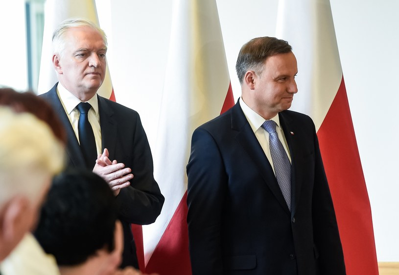 Jarosław Gowin i prezydent Andrzej Duda /Agnieszka Sniezko/East News /East News