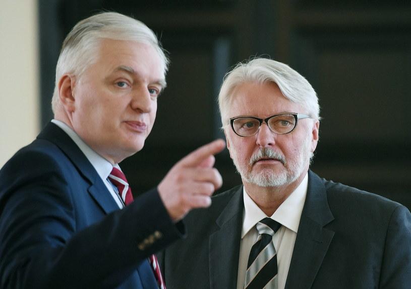 Jarosław Gowin i Witold Waszczykowski /Radek Pietruszka /PAP