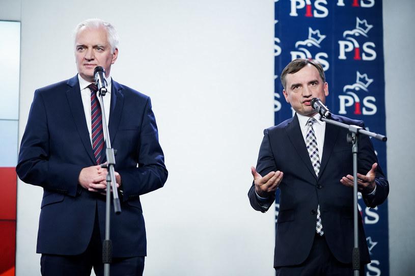 Jarosław Gowin i Zbigniew Ziobro /Mateusz Wlodarczyk /Agencja FORUM