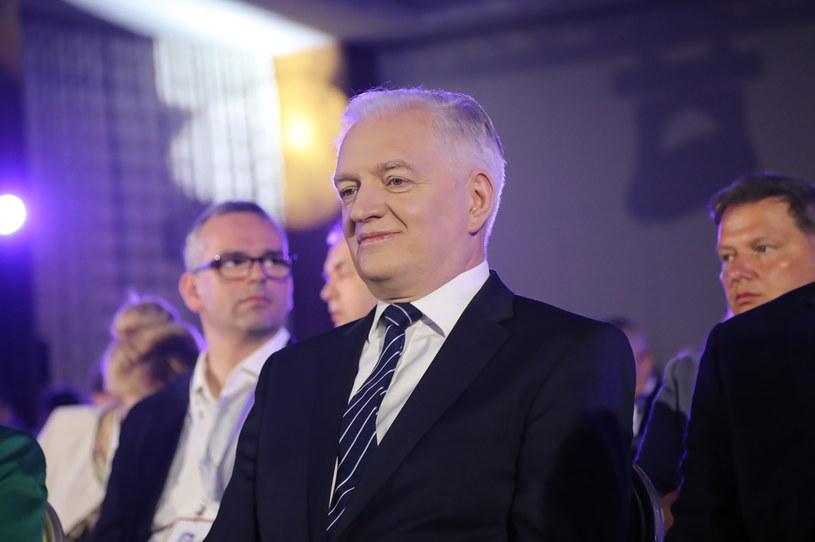 Jarosław Gowin na kongresie Porozumienia /Wojciech Olkuśnik /PAP