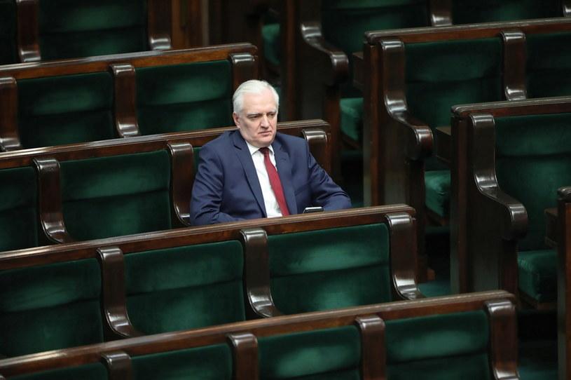 Jarosław Gowin na sali obrad Sejmu /Wojciech Olkuśnik /PAP