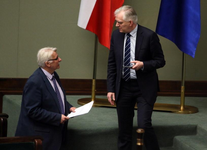 Jarosław Gowin oraz minister spraw zagranicznych Witold Waszczykowski /Tomasz Gzell /PAP