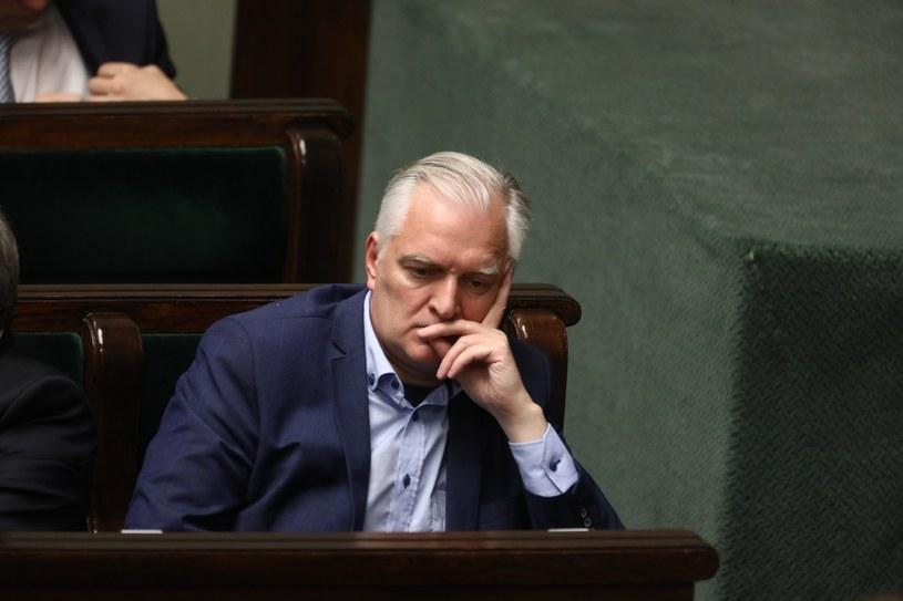 Jarosław Gowin po wczorajszym głosowaniu nad ustawą ws. SN /Stanisław Kowalczuk /East News