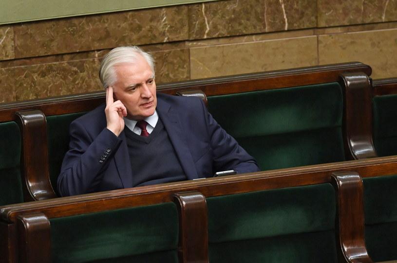 Jarosław Gowin w Sejmie / Radek Pietruszka   /PAP