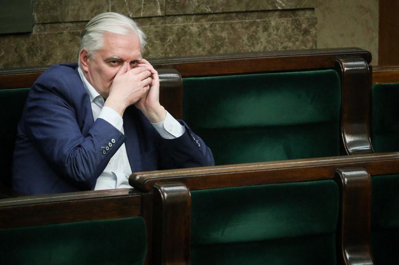 Jarosław Gowin w Sejmie /fot. Andrzej Iwanczuk /Reporter