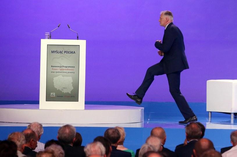 Jarosław Gowin wkracza na mównicę /Dominik Gajda /Reporter