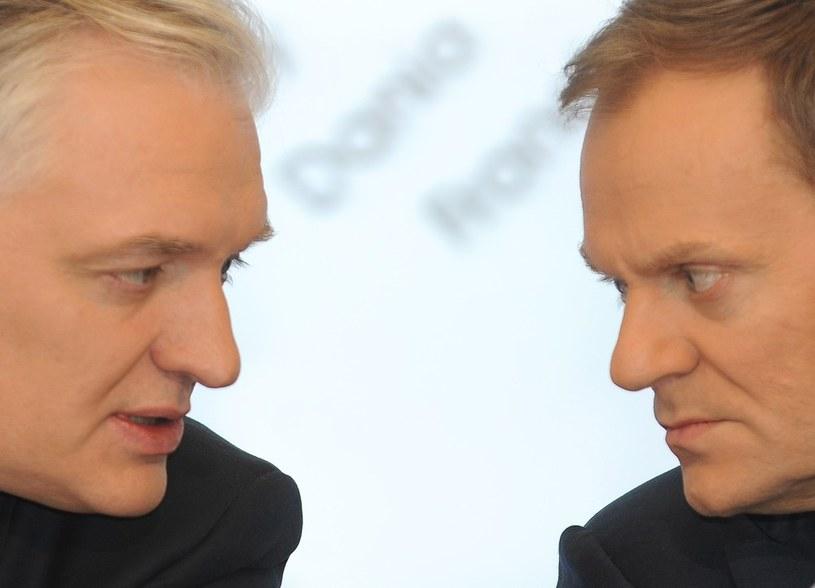 Jarosław Gowin (z lewej) i Donald Tusk /Witold Rozbicki /Reporter