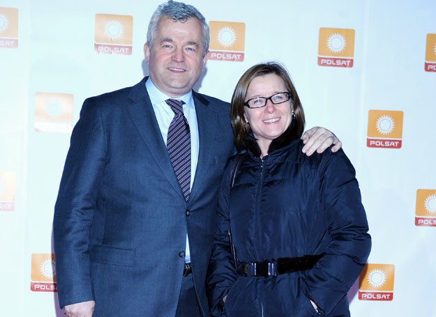 Jarosław Gugała z żoną /Andras Szilagyi /MWMedia