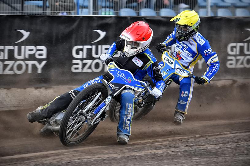 Jarosław Hampel i Chris Holder. /Przemysław Gąbka /Flipper Jarosław Pabijan